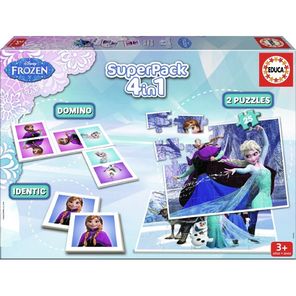 2X25 EL.+Memo+Domino Frozen EDUCA